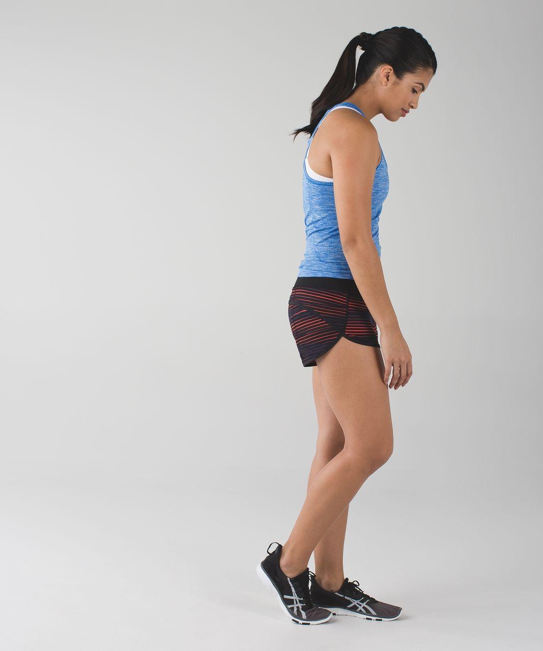 Lululemon Run:  Speed Short *4-way Stretch - Twisted Dune Alarming Black / Black