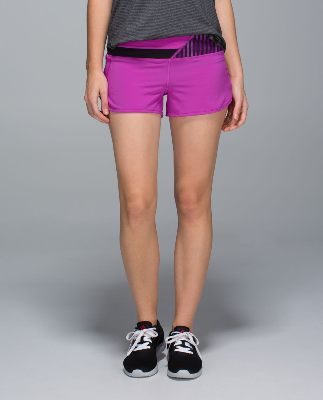 Lululemon Run:  Speed Short *4-way Stretch - Ultra Violet / Wi14 Quilt 27