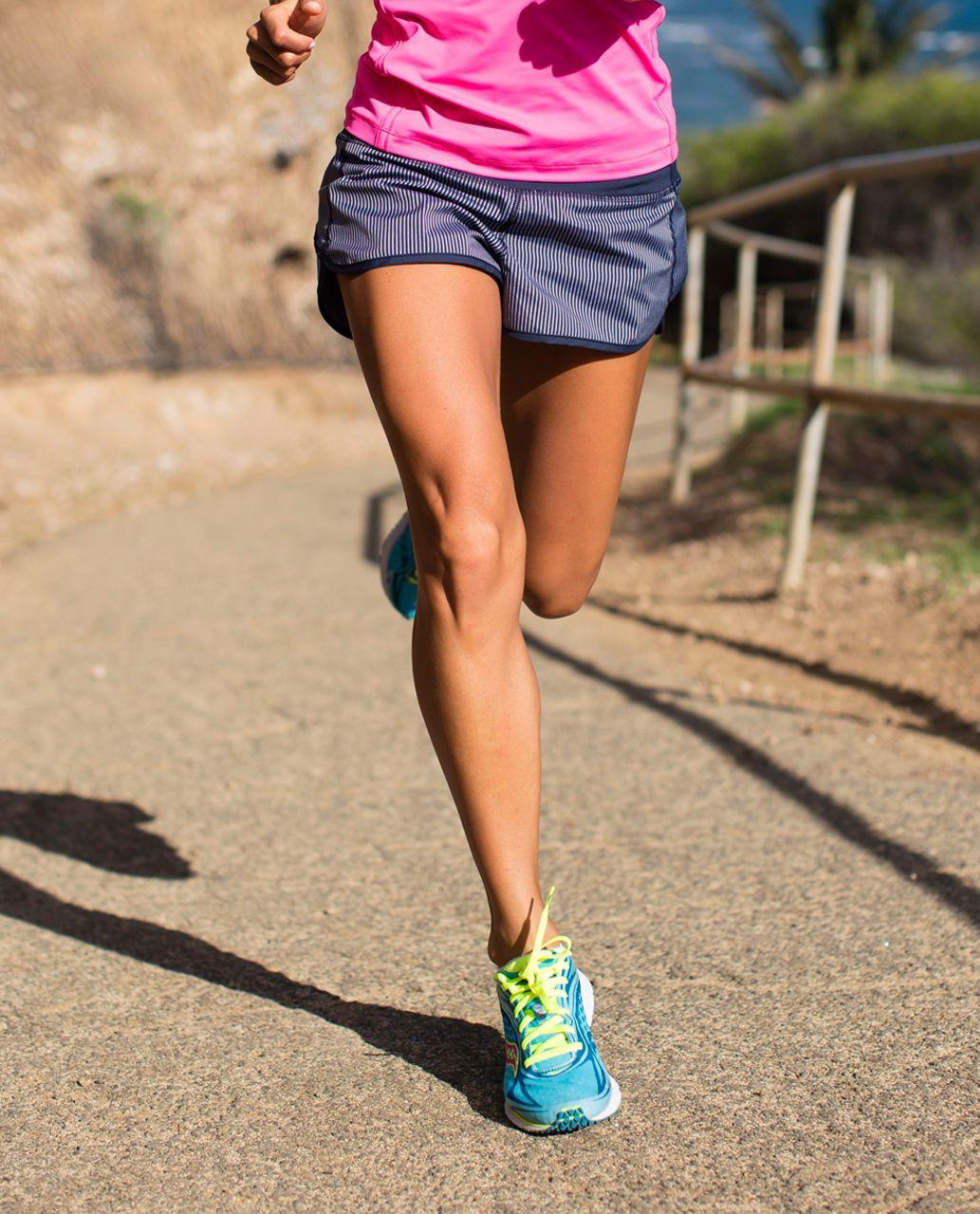 Lululemon Run:  Speed Short - Wagon Stripe Inkwell / Inkwell