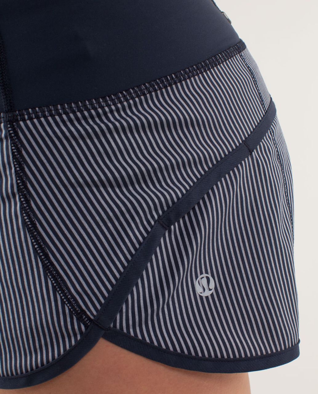 Lululemon Run:  Speed Short - Wagon Stripe Inkwell / Inkwell