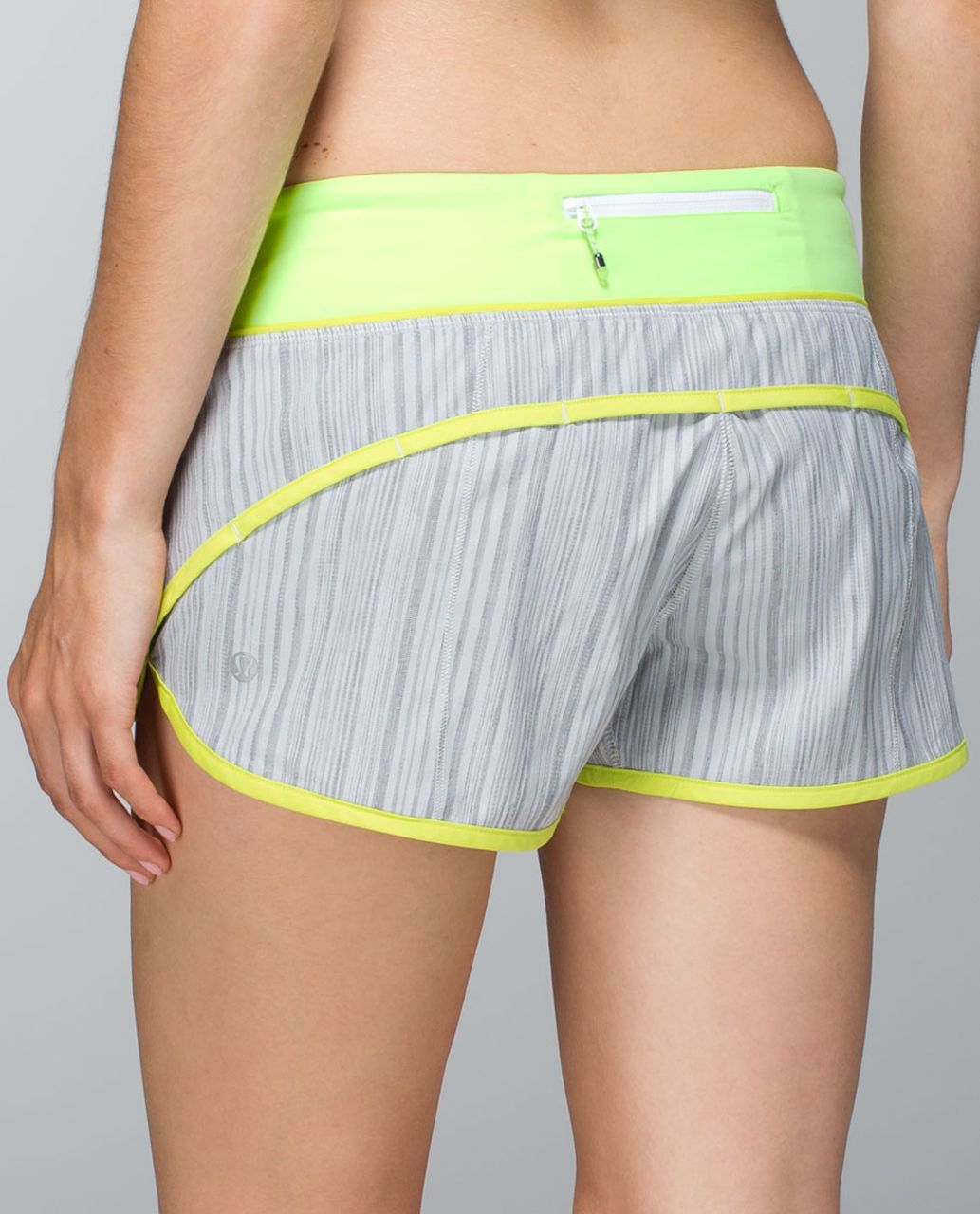 Lululemon Run:  Speed Short *2-way Stretch - Wee Are From Space Silver Spoon / Antidote / Clear Mint