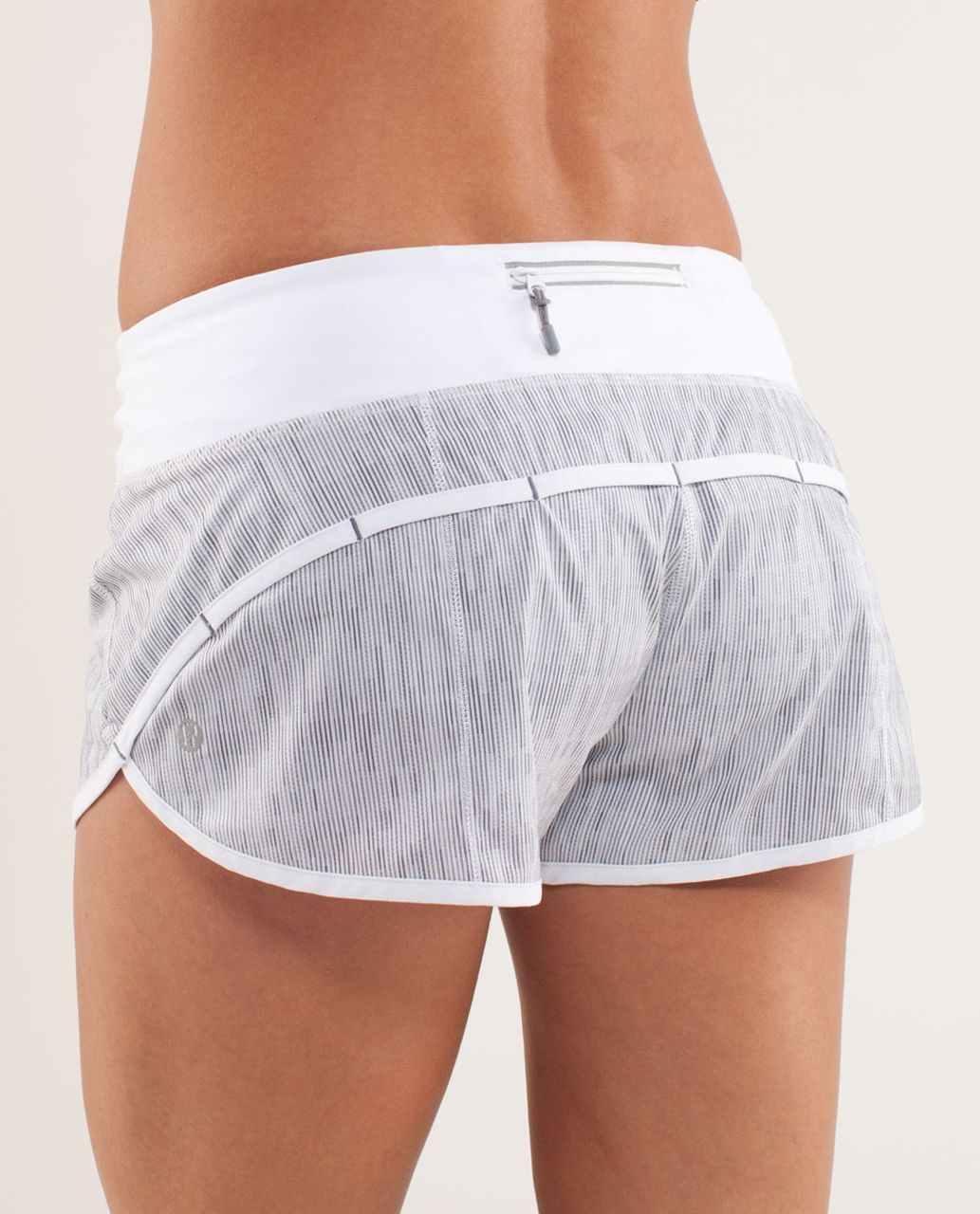 Lululemon Run:  Speed Short - Wee Are From Space White Combo / White (Vertical Stripe)