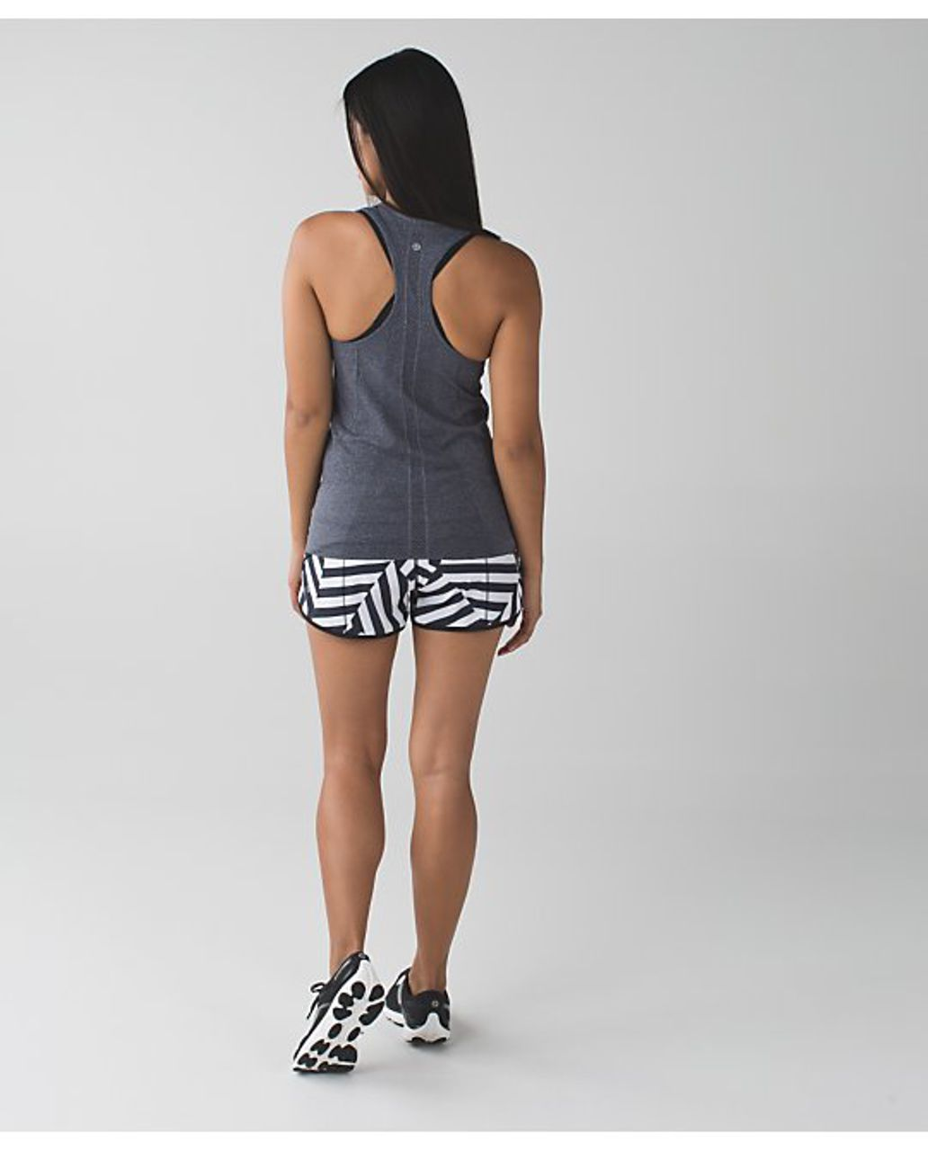 Lululemon Speed Short - Which Way Sway - Black/White (Solid Black Waistband/Black Accent - AU release)