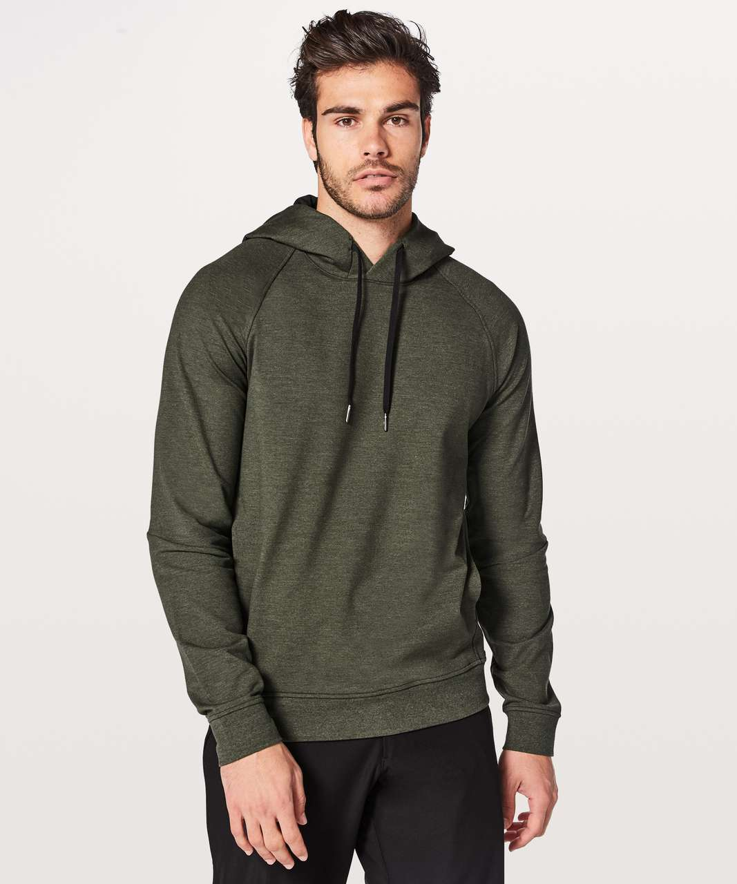 Lululemon City Sweat Pullover Hoodie - Heathered Dark Olive