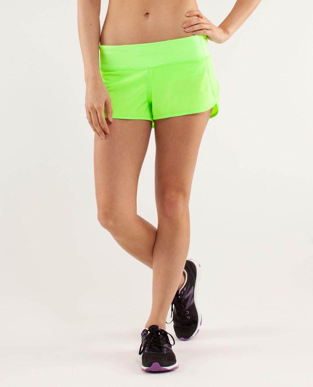 Lululemon Run:  Speed Short - Zippy Green