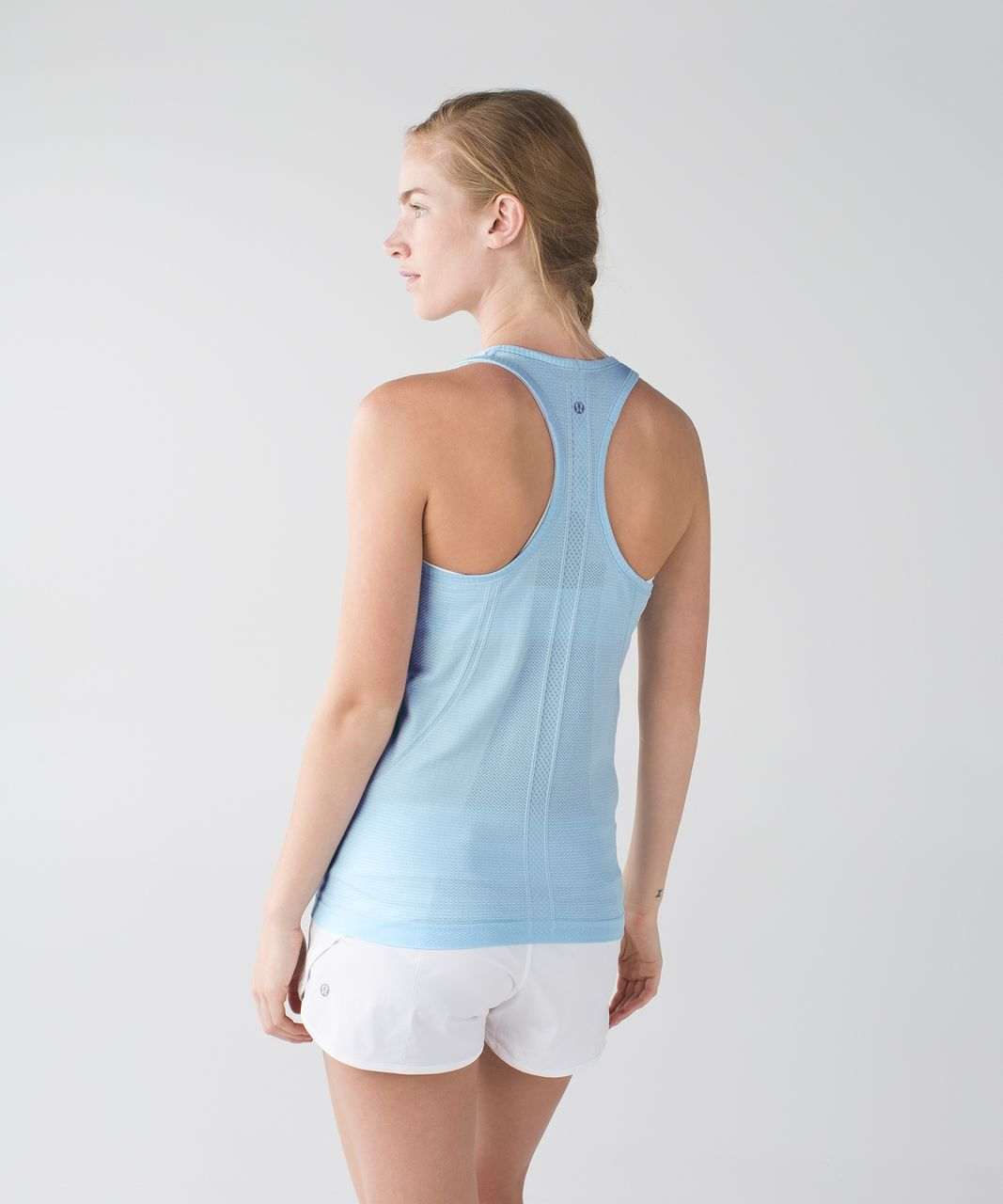 Lululemon Swiftly Tech Racerback - Heathered Caspian Blue