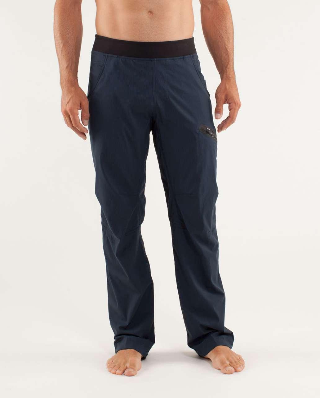 a4c247503 Lululemon Seawall Track Pant  Lined - Black Iris Blue - lulu fanatics