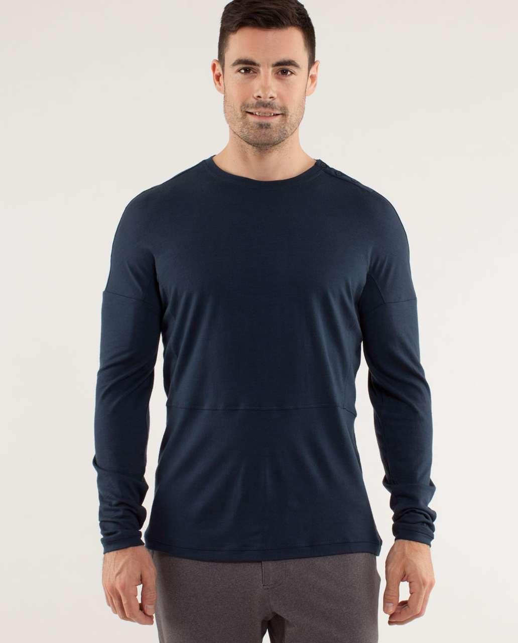 Lululemon Transit Long Sleeve *Merino Wool - Black Iris Blue