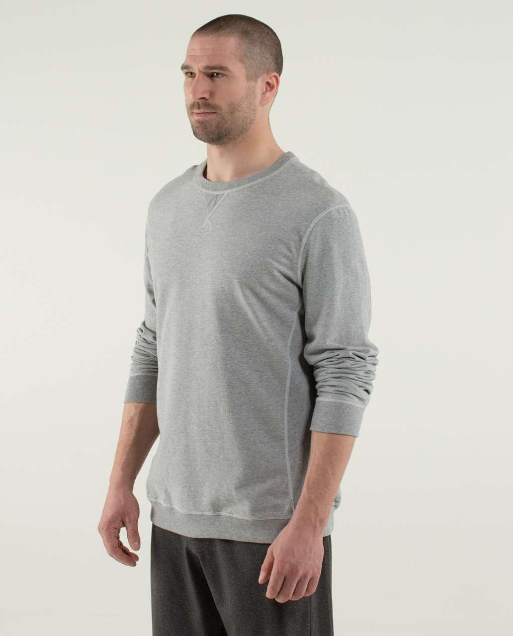 Lululemon All Town Crew Long Sleeve - Heathered Medium Grey / Ambient Grey