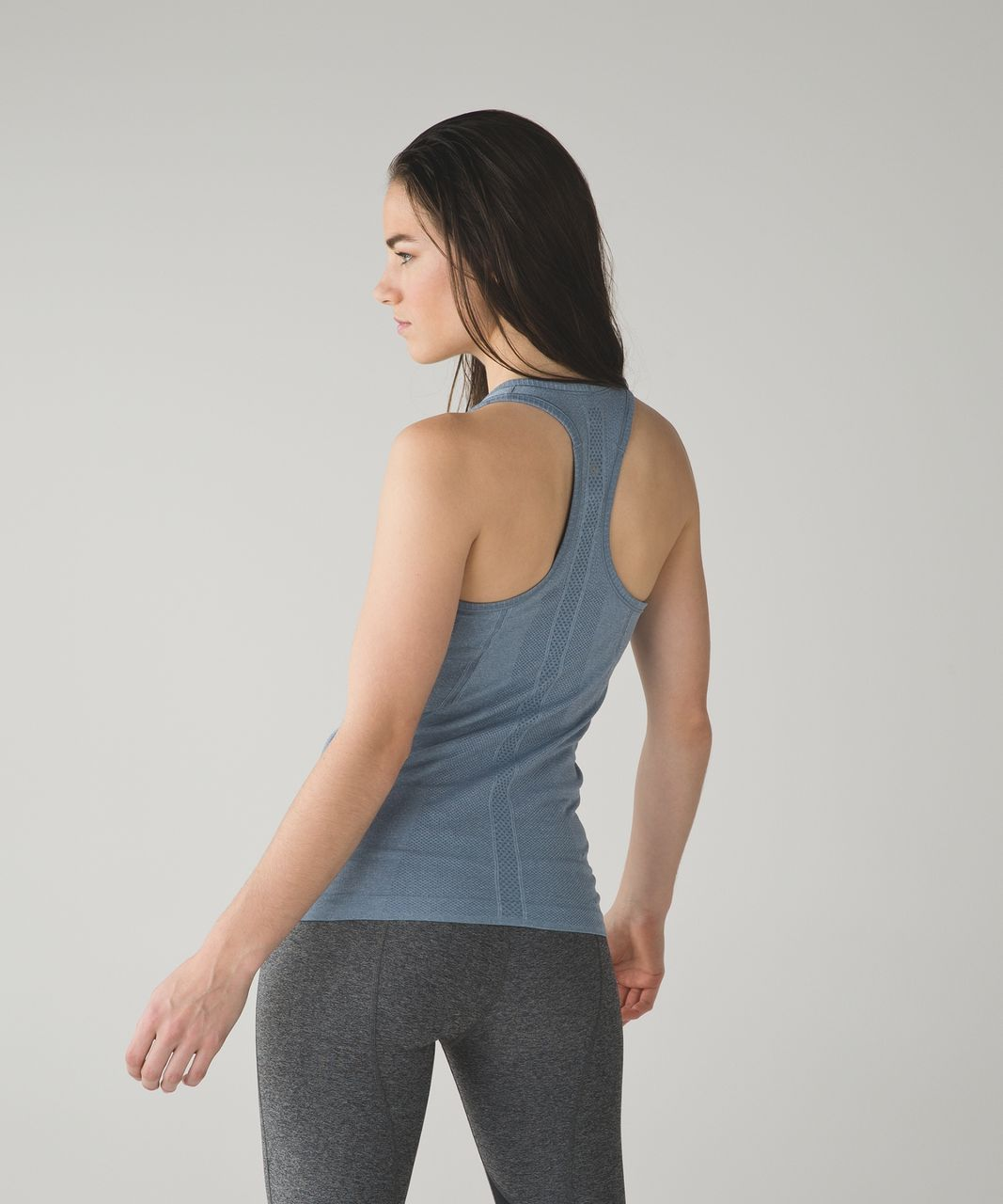 Lululemon Swiftly Tech Racerback - Heathered Blue Denim