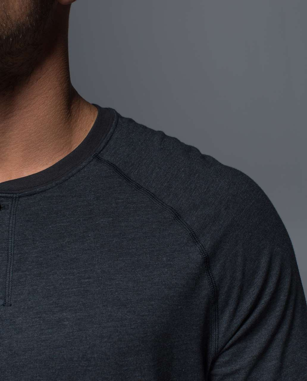 Lululemon Rival Long Sleeve - Heathered Black / Black