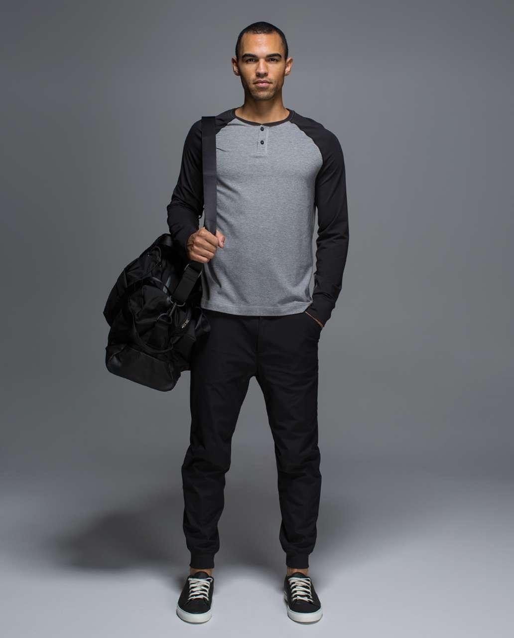 Lululemon Rival Long Sleeve - Heathered Medium Grey / Black