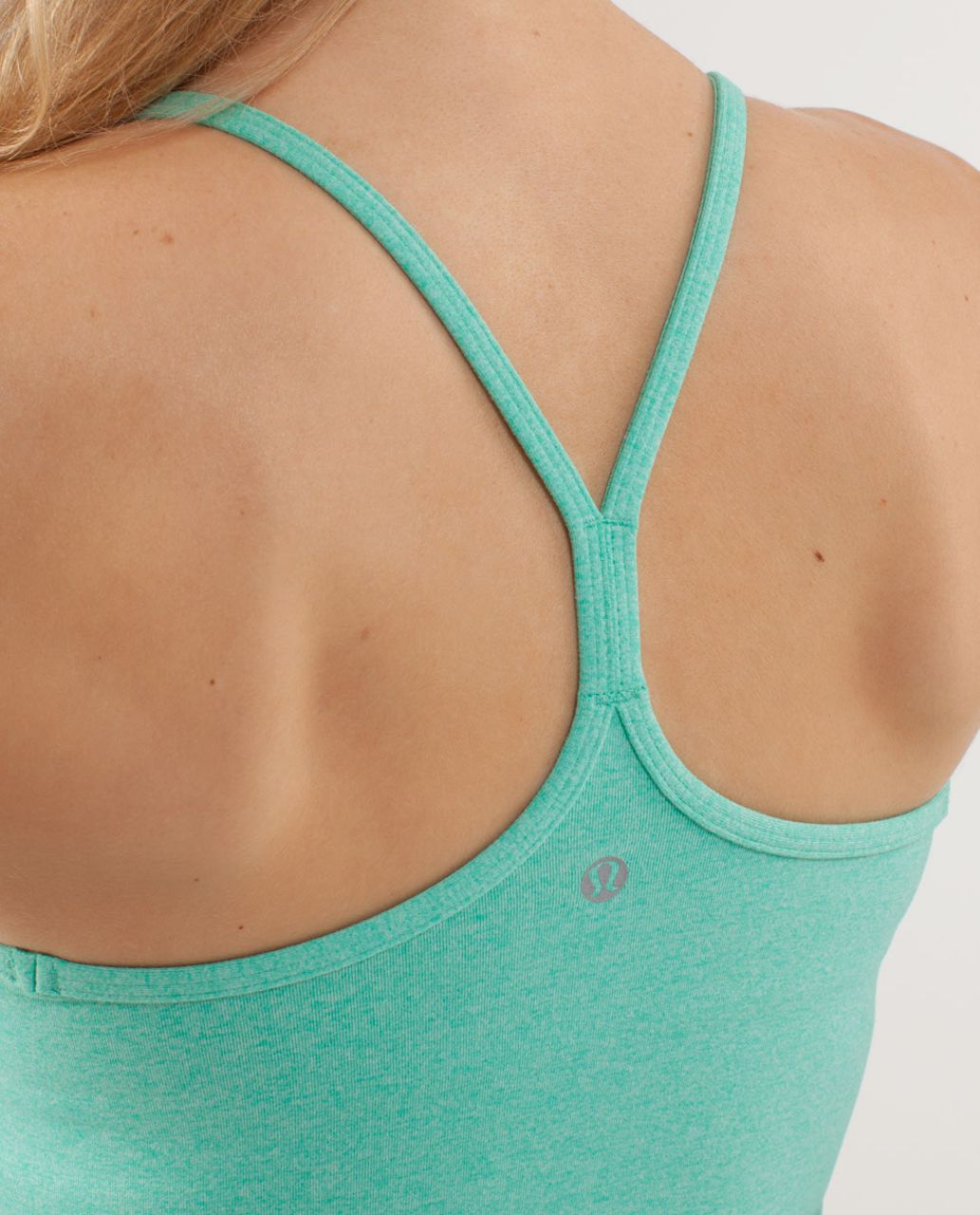 Lululemon Power Y Tank *Luon - Heathered Menthol