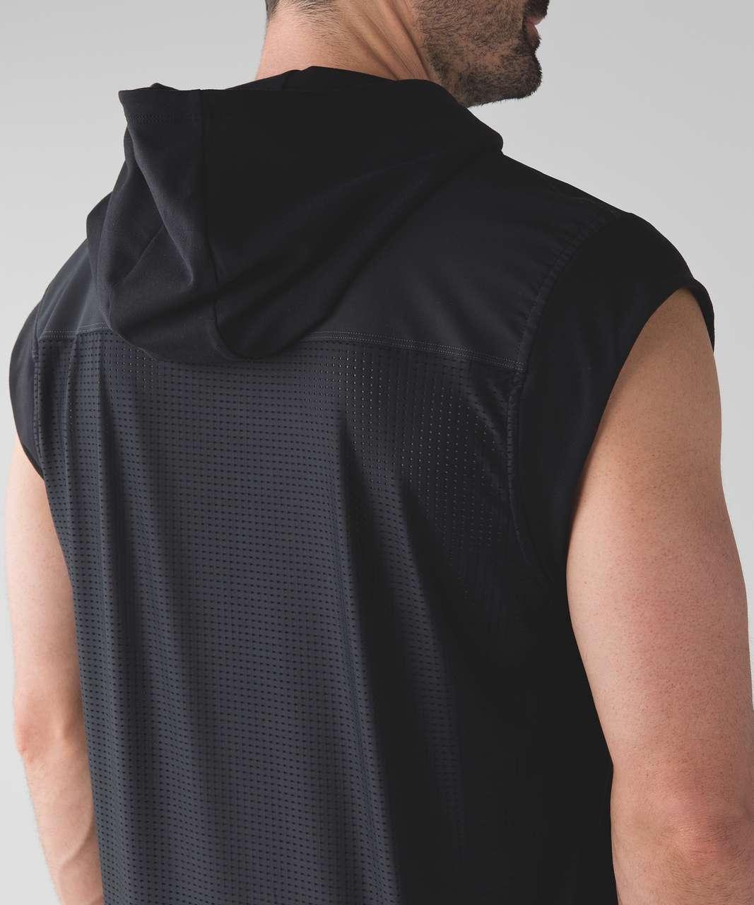 137adc7ff8b5f1 Lululemon Stealth Hooded Sleeveless - Black - lulu fanatics