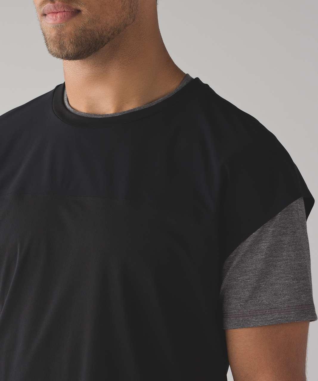 Lululemon Box Space Short Sleeve Pullover - Black