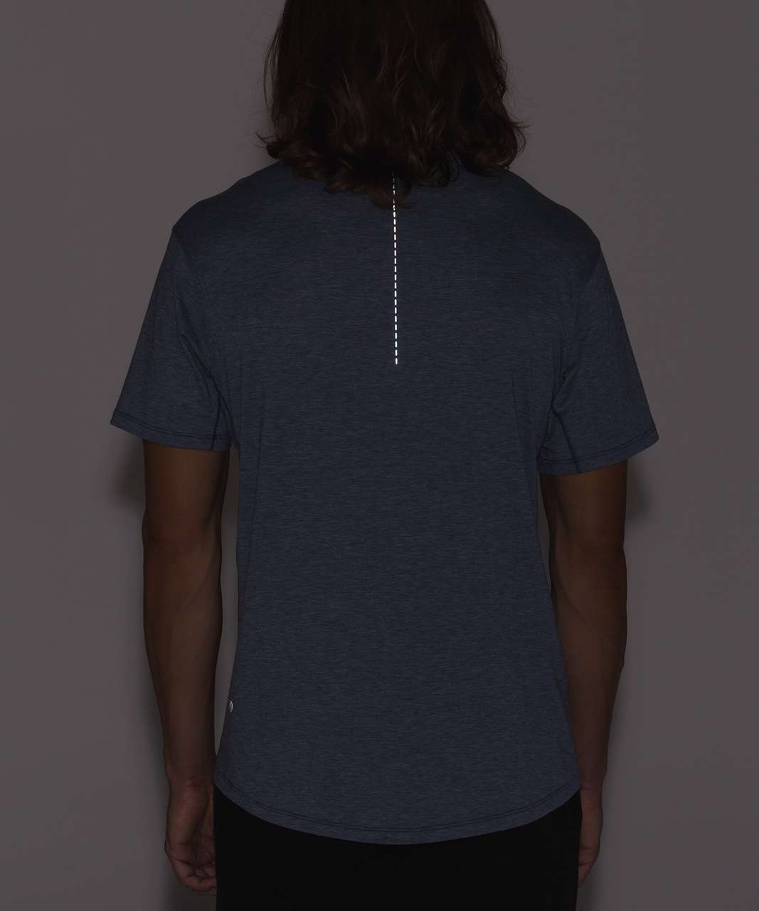 Lululemon Somatic Aero Short Sleeve - Heathered Dark Cobalt