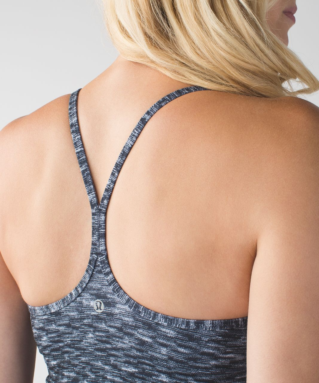 Lululemon Power Y Tank - Dramatic Static White Black