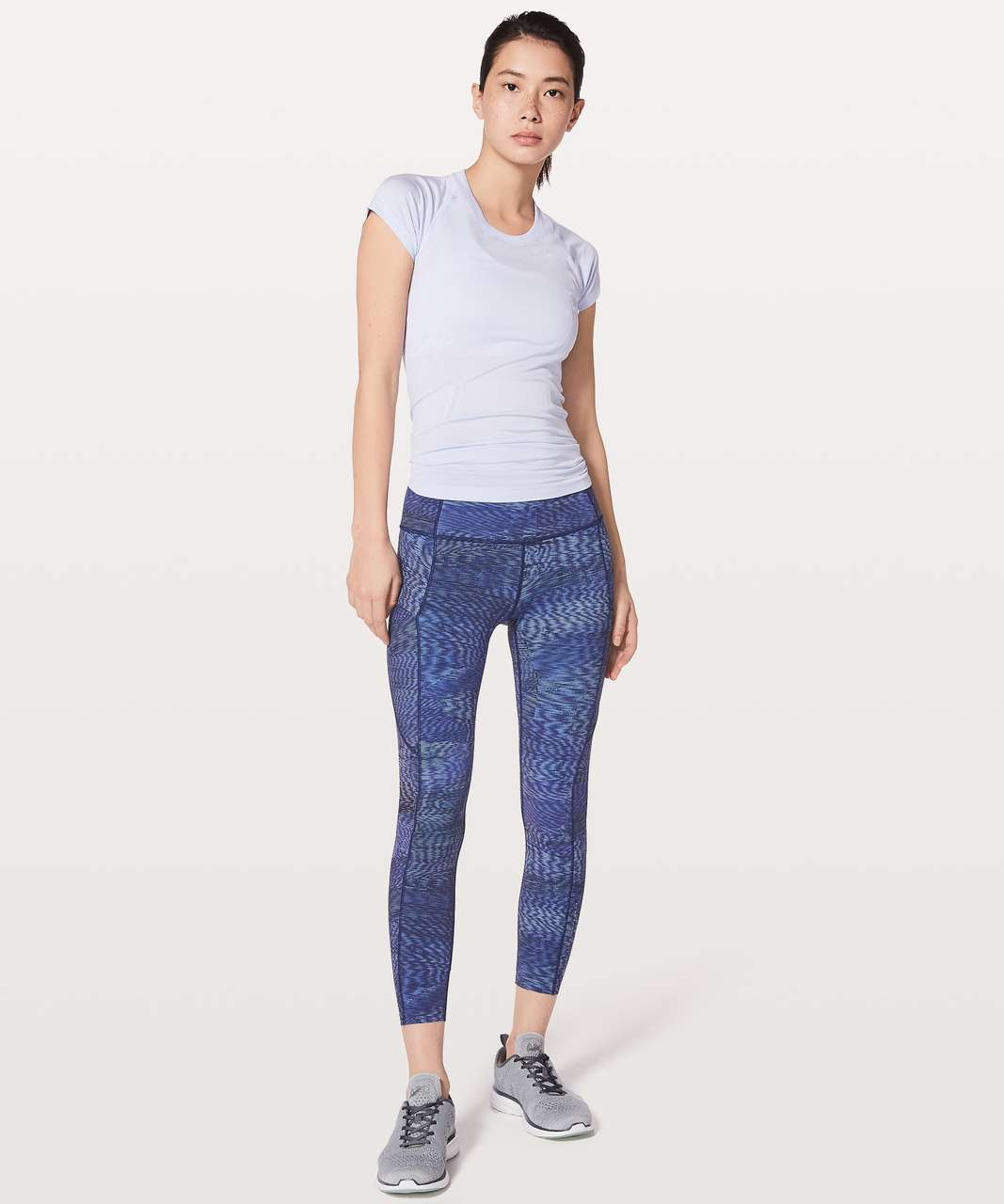 "Lululemon Fast & Free 7/8 Tight II *Nulux 25"" - Linear Flux Light"