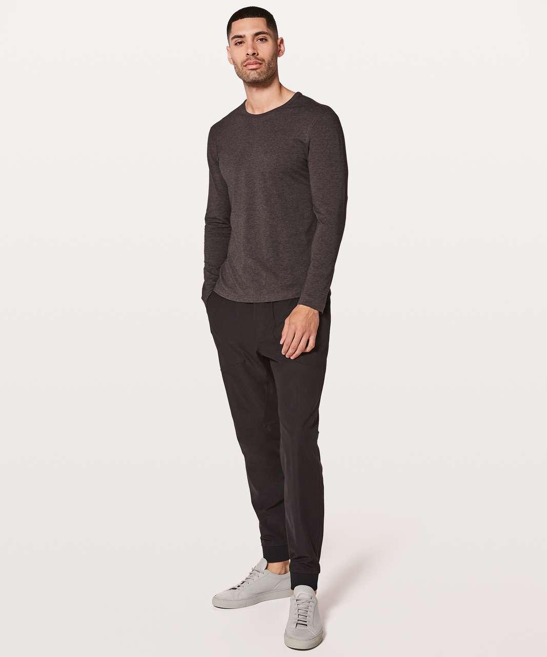 0252ac5de633 Lululemon 5 Year Basic Long Sleeve - Heathered Black Garnet - lulu ...