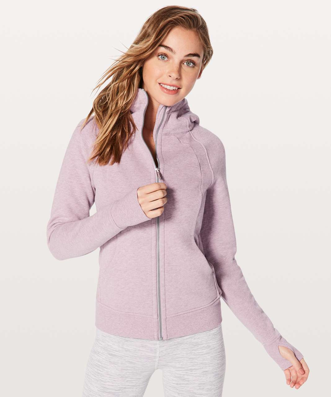 Lululemon Scuba Hoodie *Light Cotton Fleece - Heathered Dusty Rose (First Release)