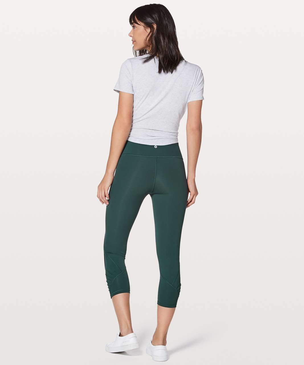 "Lululemon Wunder Under Crop (Hi-Rise) Pleat 21"" - Teal Shadow"