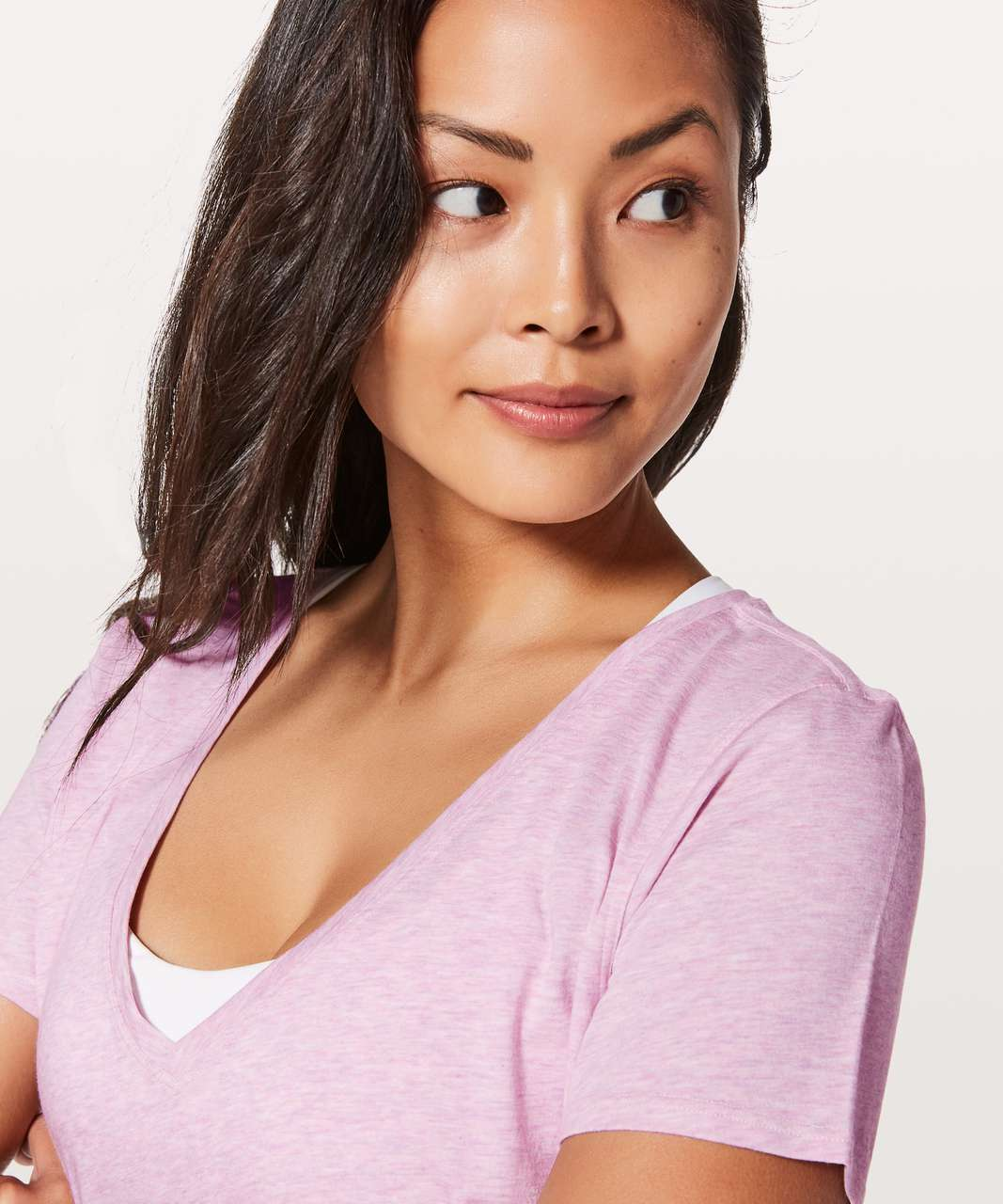Lululemon Love Tee V - Heathered Petals