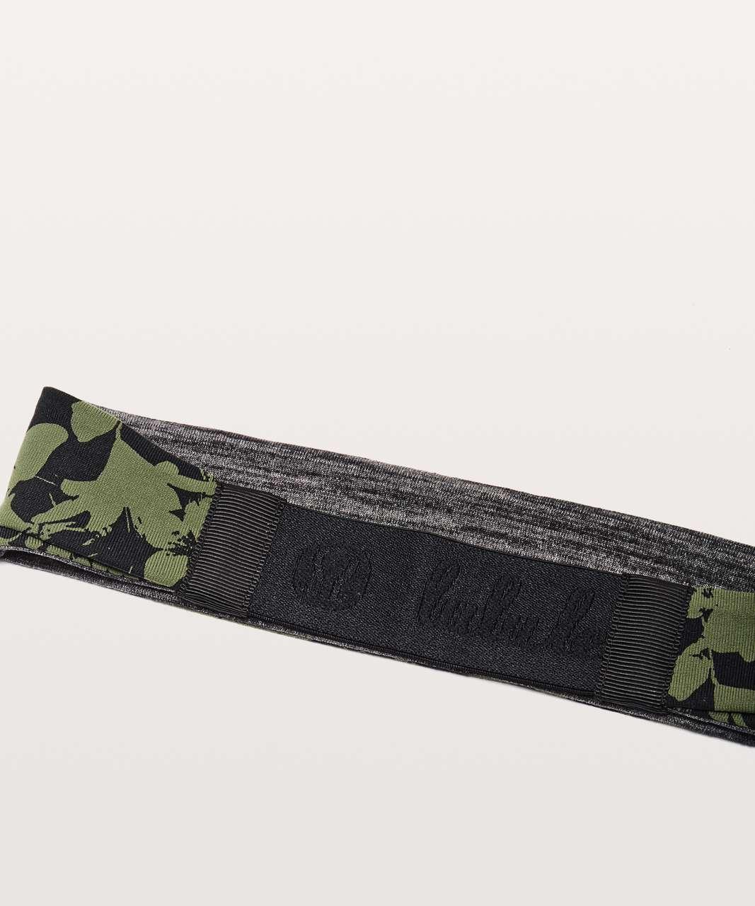Lululemon Fringe Fighter Headband - Efflorescent Barracks Green Black / Heathered Black