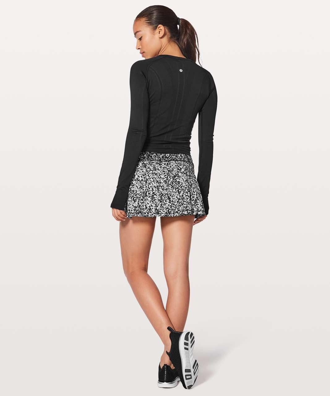 Lululemon Pace Rival Skirt (Regular) *No Panels - Chirakasu Alpine White / Chirasu Black