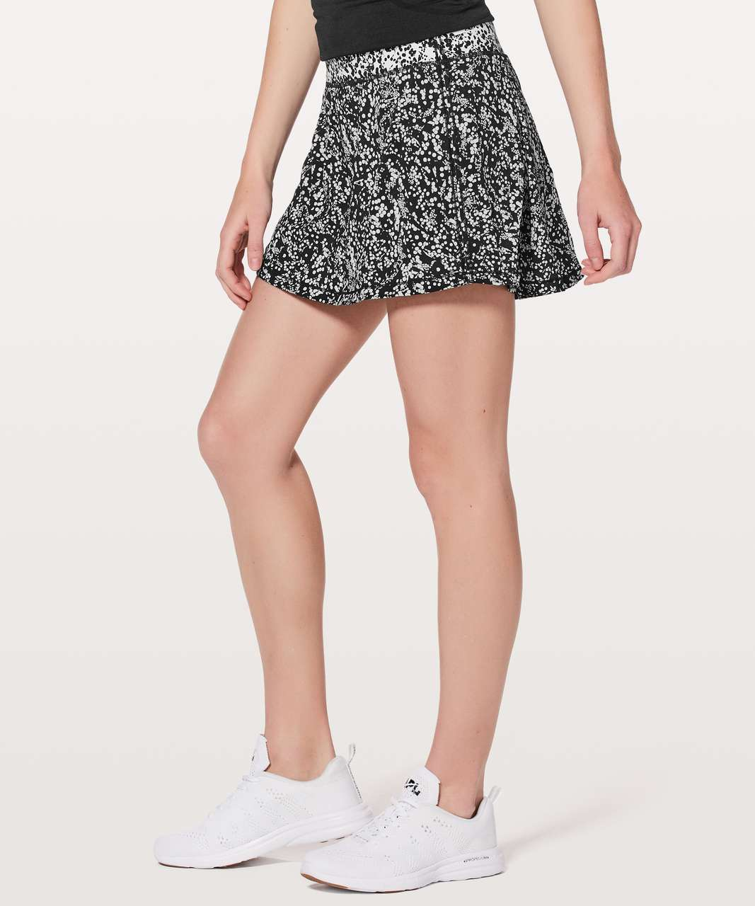 Lululemon Pace Rival Skirt (Tall) *No Panels - Chirasu Black / Chirakasu Alpine White