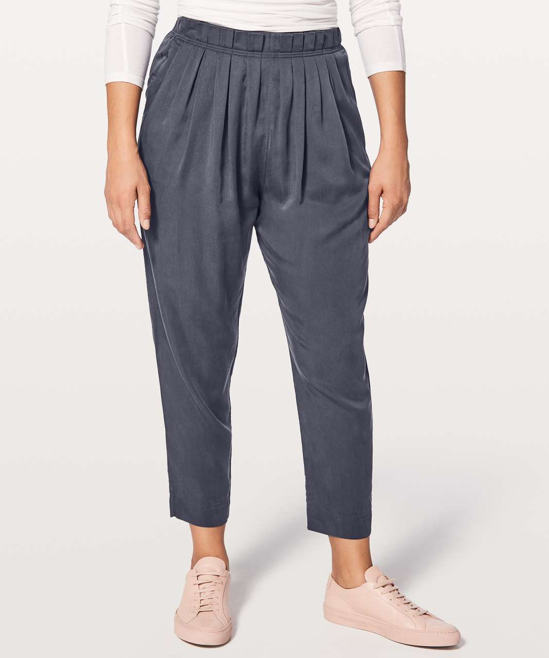 "Lululemon Can You Feel The Pleat Pant *25"" - Blue Tied"
