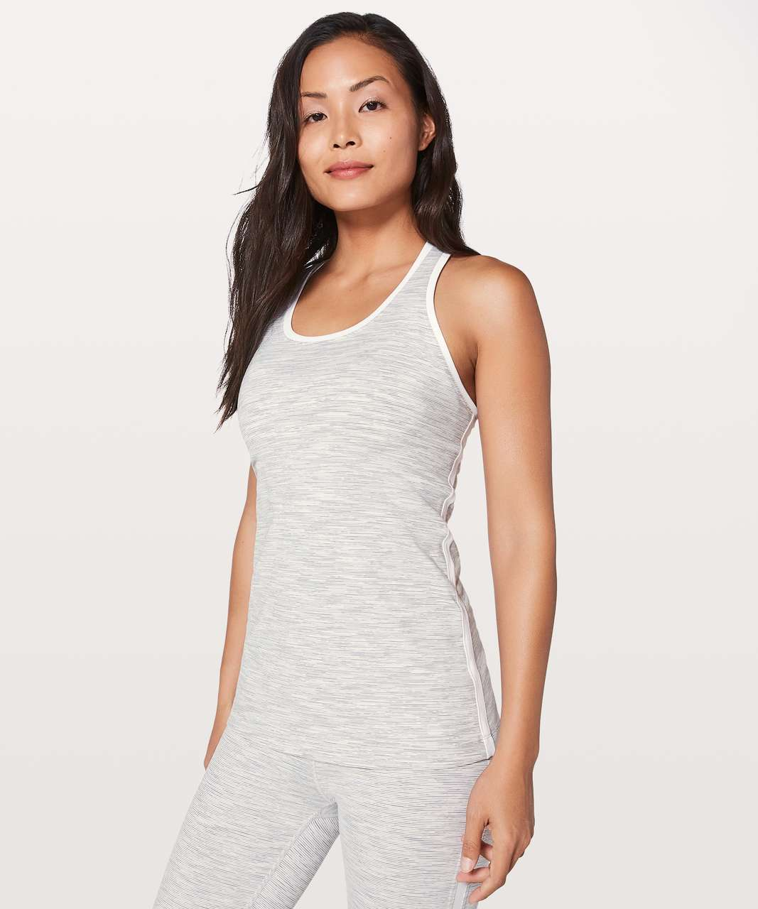 Lululemon Cool Racerback II Lined Up - Wee Are From Space Nimbus Battleship / White