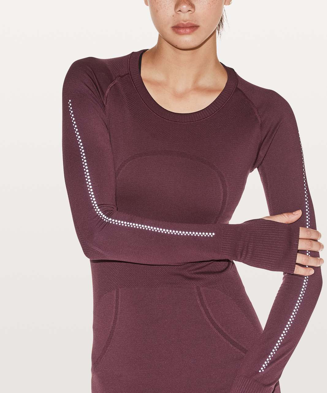 Lululemon Swiftly Tech Long Sleeve Crew Reflective - Redwood