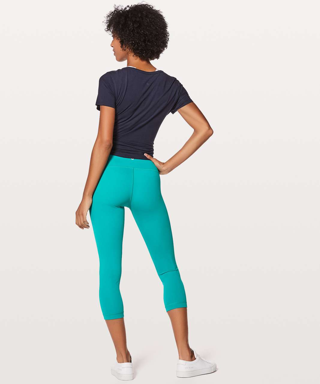 "Lululemon Wunder Under Crop (Hi-Rise) *Full-On Luxtreme 21"" - Spirit Green"