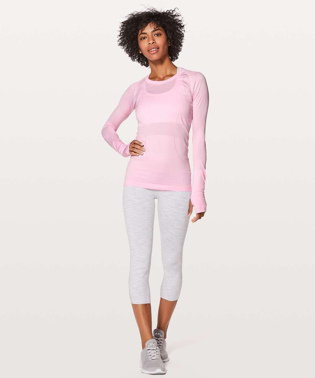 Lululemon Swiftly Tech Long Sleeve Crew - Pearl Pink / Pearl Pink