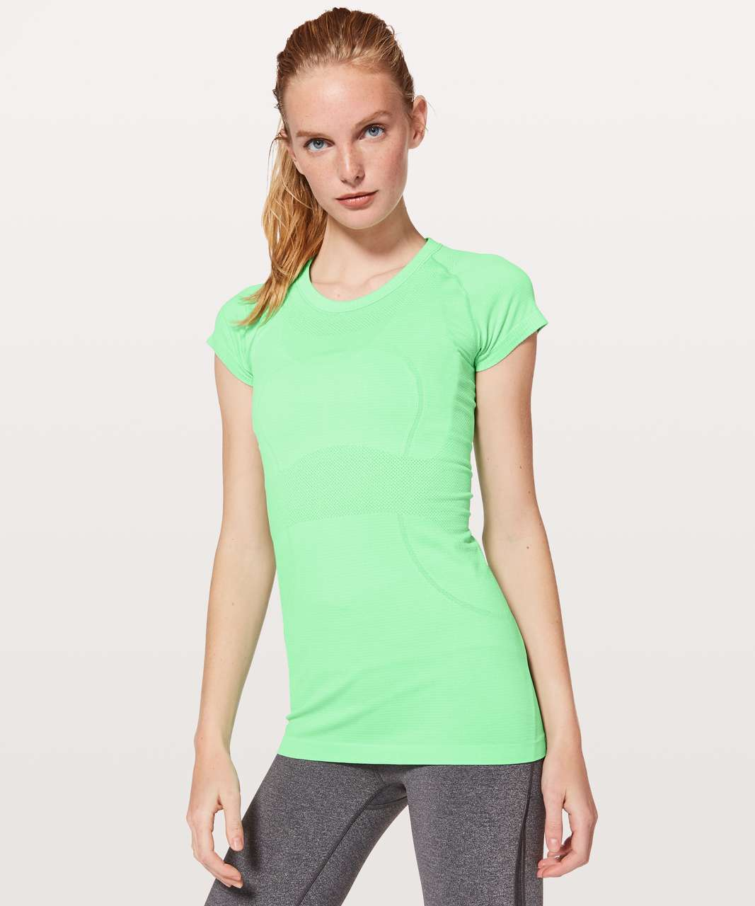 Lululemon Swiftly Tech Short Sleeve Crew - Dragonfly / White