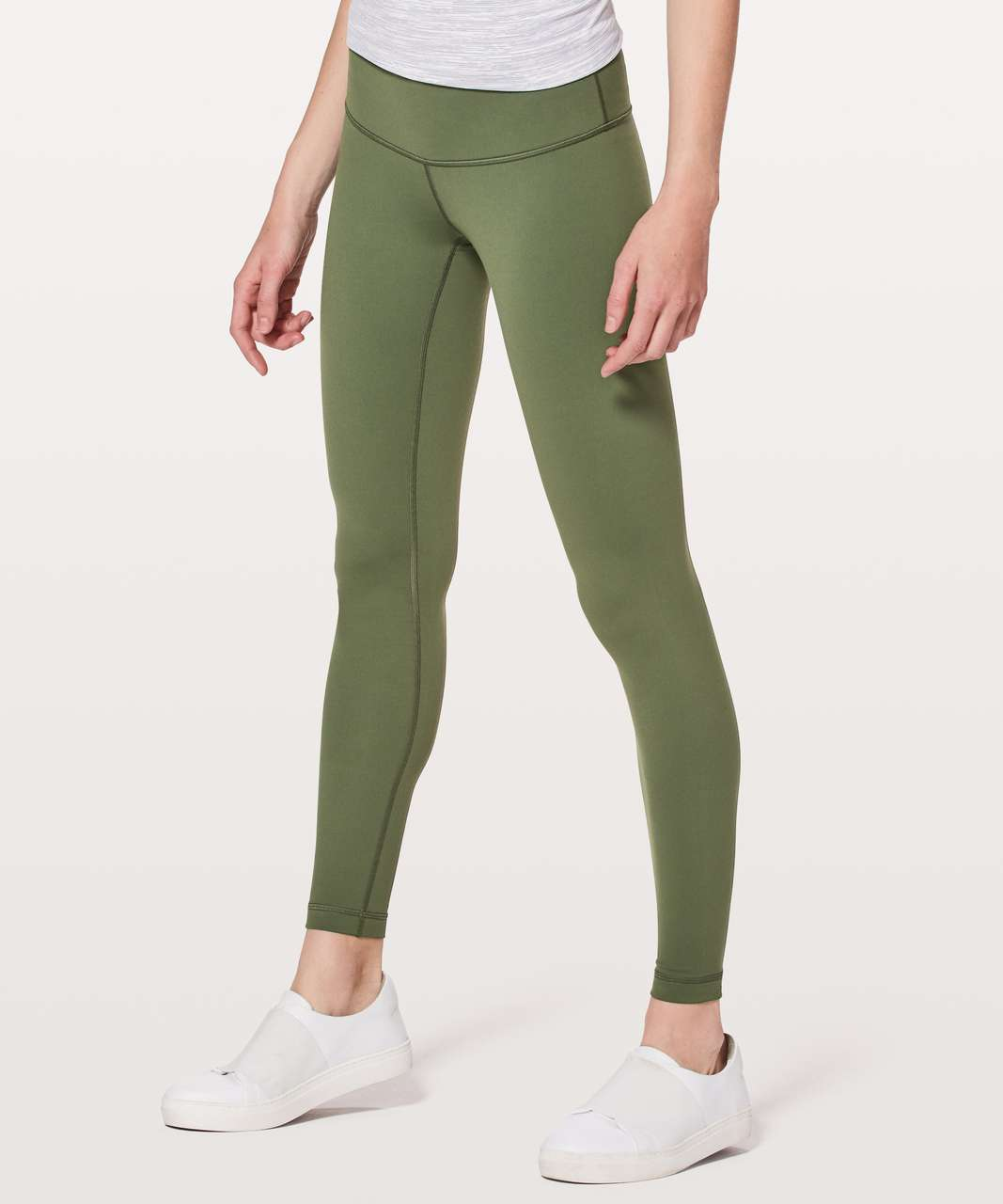 "Lululemon Wunder Under Low-Rise Tight *Full-On Luon 28"" - Barracks Green"