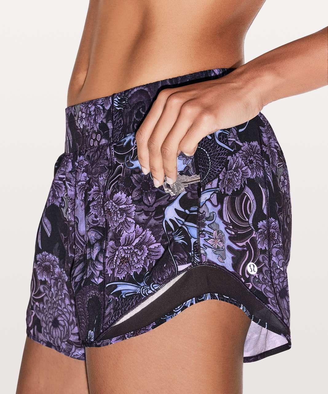 "Lululemon Hotty Hot Short II *Long 4"" - Memoir Multi Purple / Black"