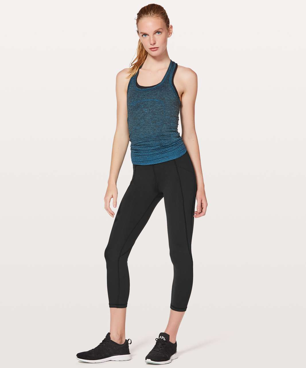 """Lululemon Time To Sweat Crop *23"""" - Black (First Release)"""