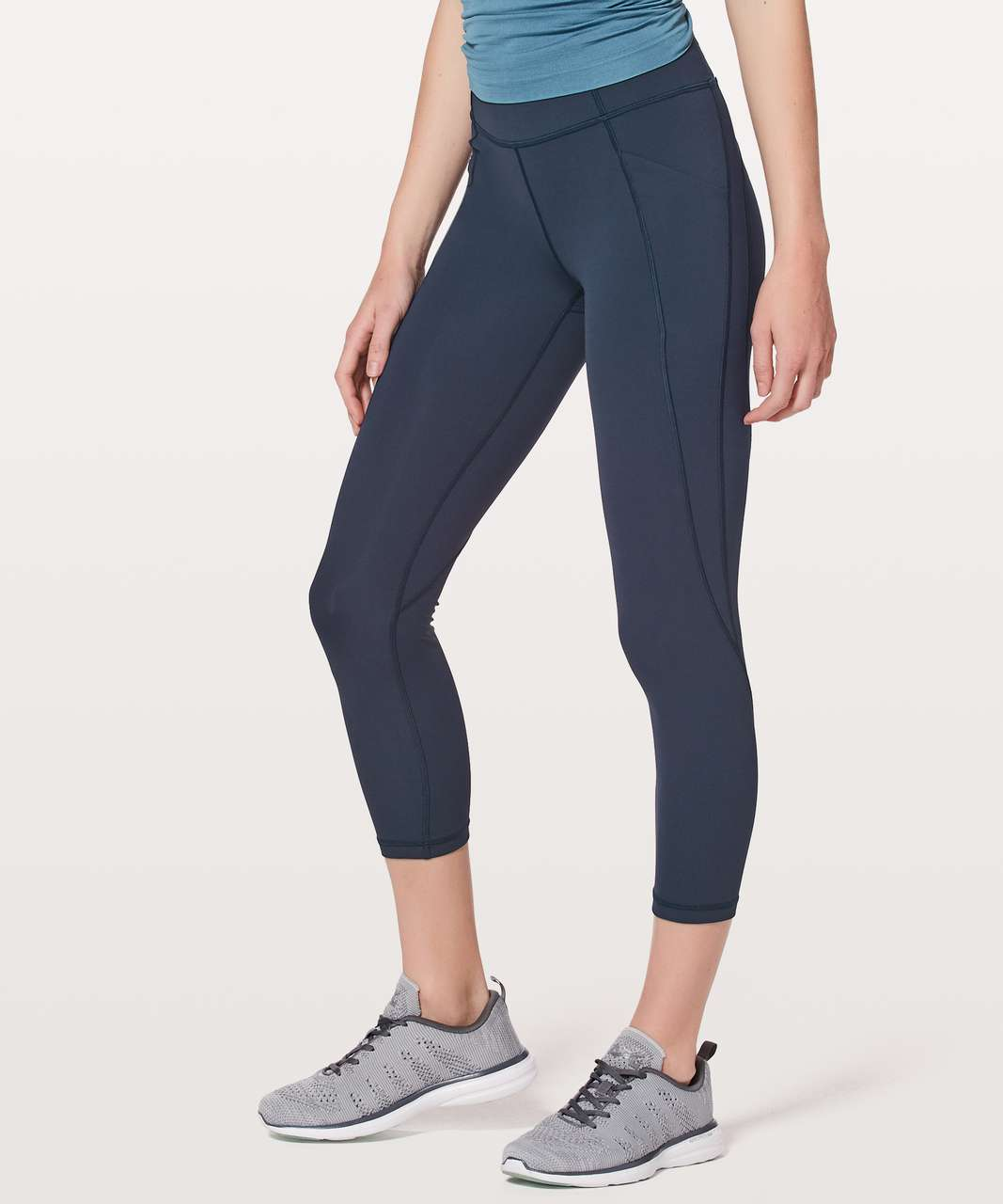 "Lululemon Time To Sweat Crop *23"" - True Navy (First Release)"