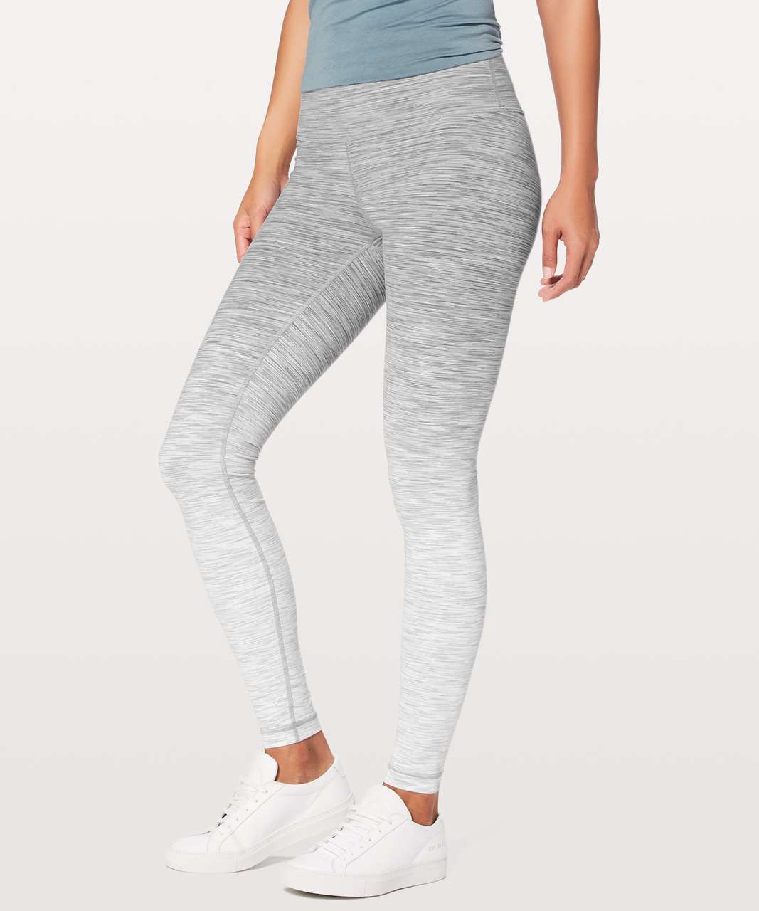 "Lululemon Wunder Under Hi-Rise Tight (Ombre Melange) *Full-On Luon 28"" - Ombre Melange Space Dye WUHR White Multi"