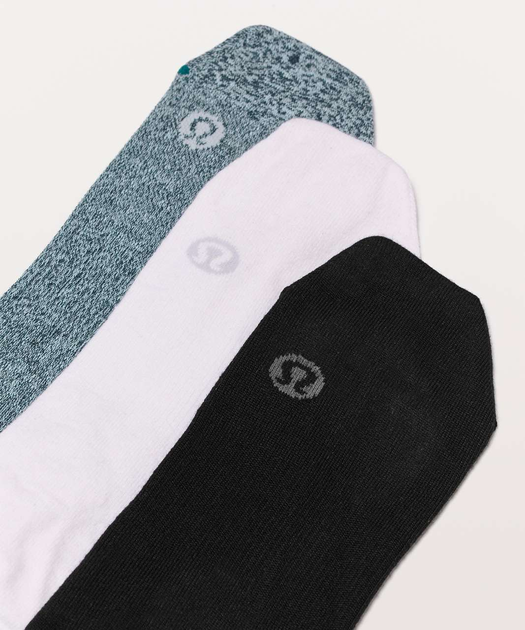 Lululemon All In A Day Sock 3 Pack - Black / White / Heathered True Navy