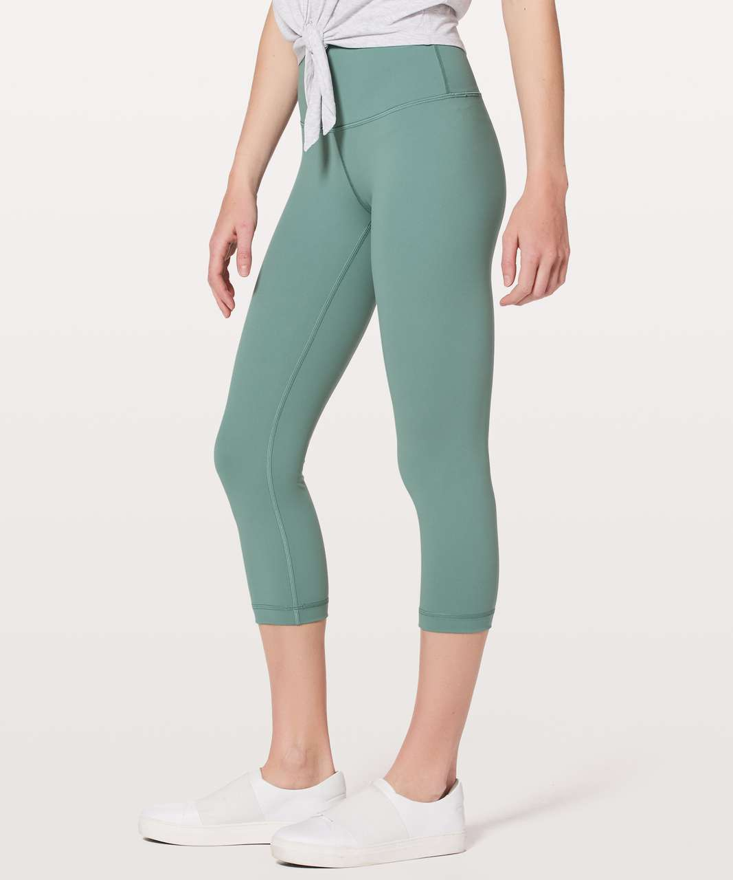 "Lululemon Wunder Under Crop (Hi-Rise) *Full-On Luxtreme 21"" - Celadon"