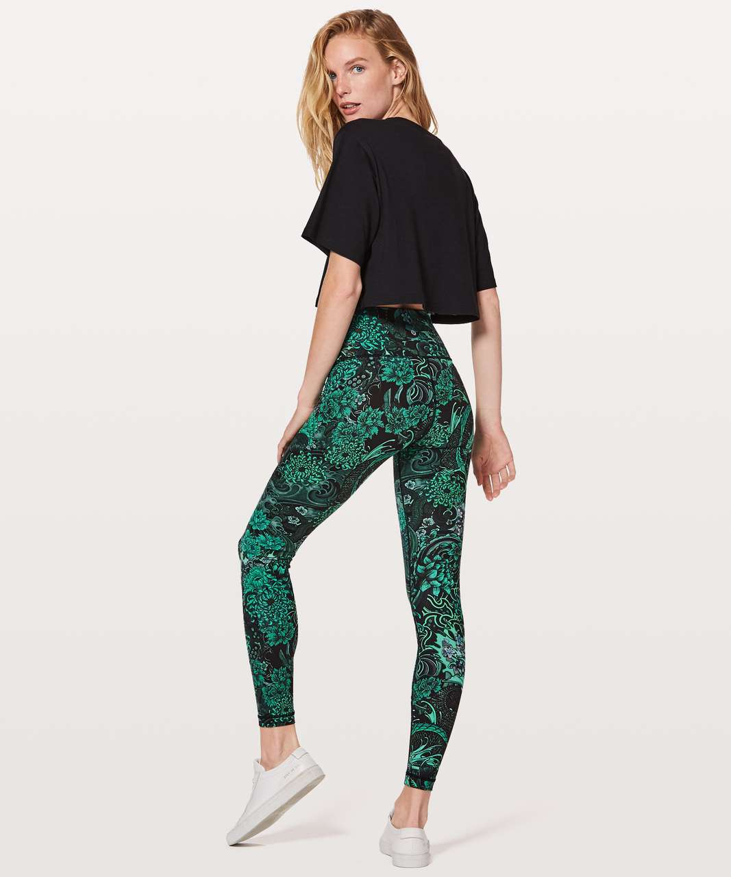 "Lululemon Wunder Under Hi-Rise Tight *Full-On Luxtreme 28"" - Memoir Multi Green"
