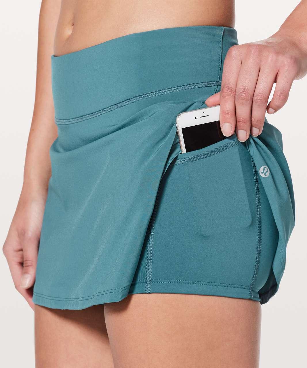 "Lululemon Play Off The Pleats Skirt *13"" - Persian Blue"