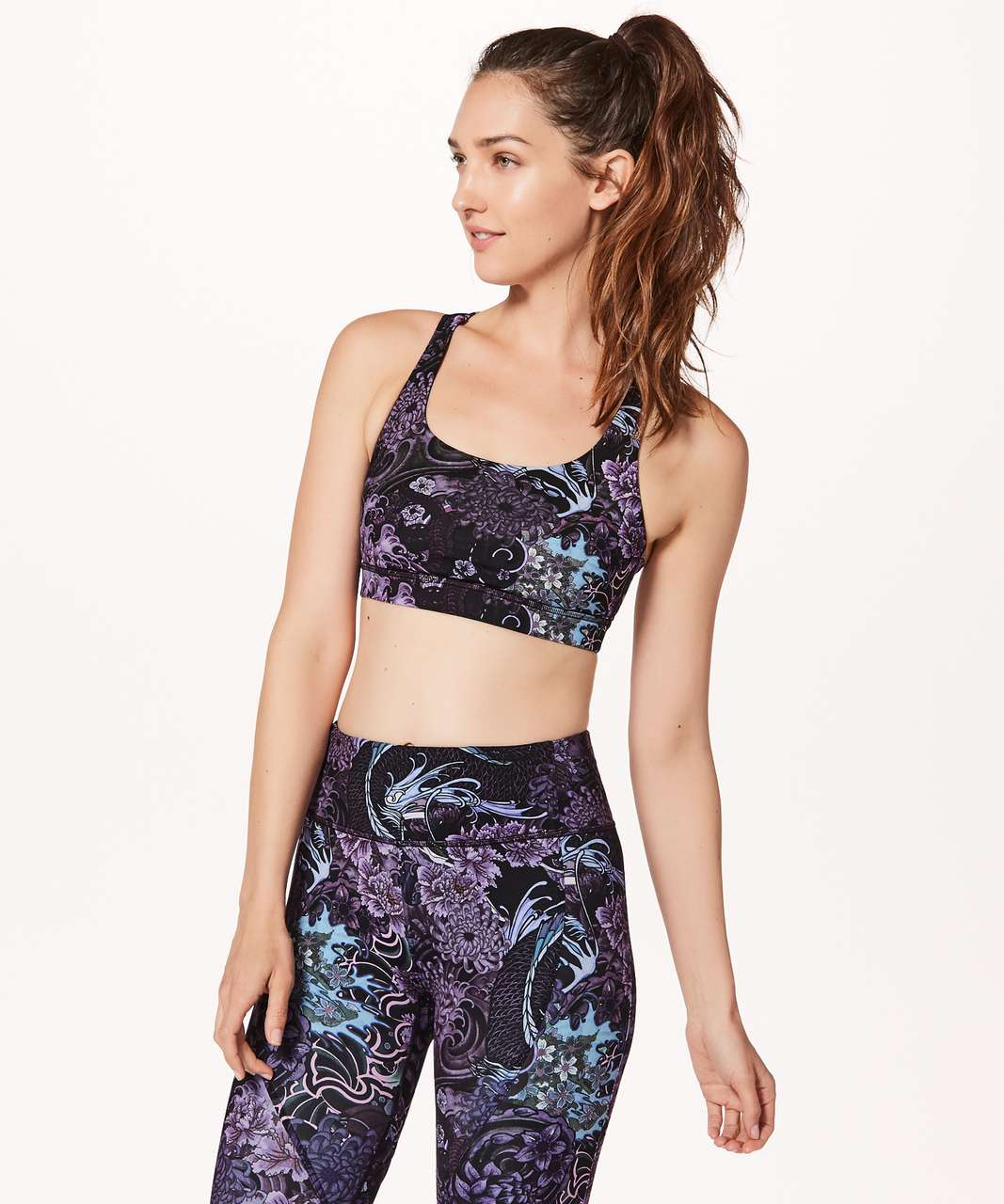 Lululemon Energy Bra - Memoir Multi Purple