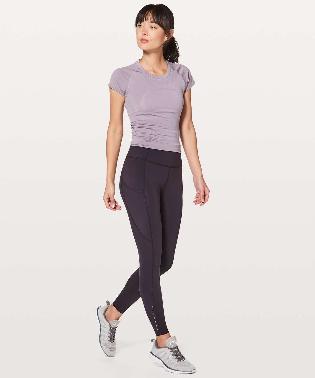 "Lululemon Fast & Free 7/8 Tight II *Nulux 25"" - Deep Phantom"