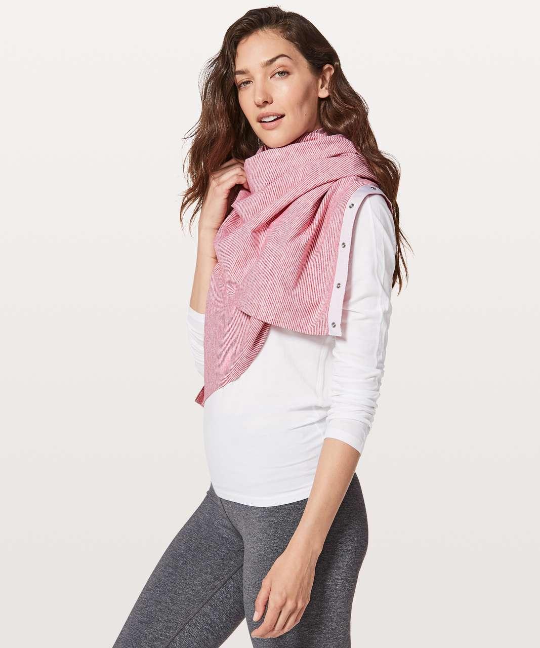 Lululemon Vinyasa Scarf *Rulu - Tonka Stripe Heathered Vintage Rose White