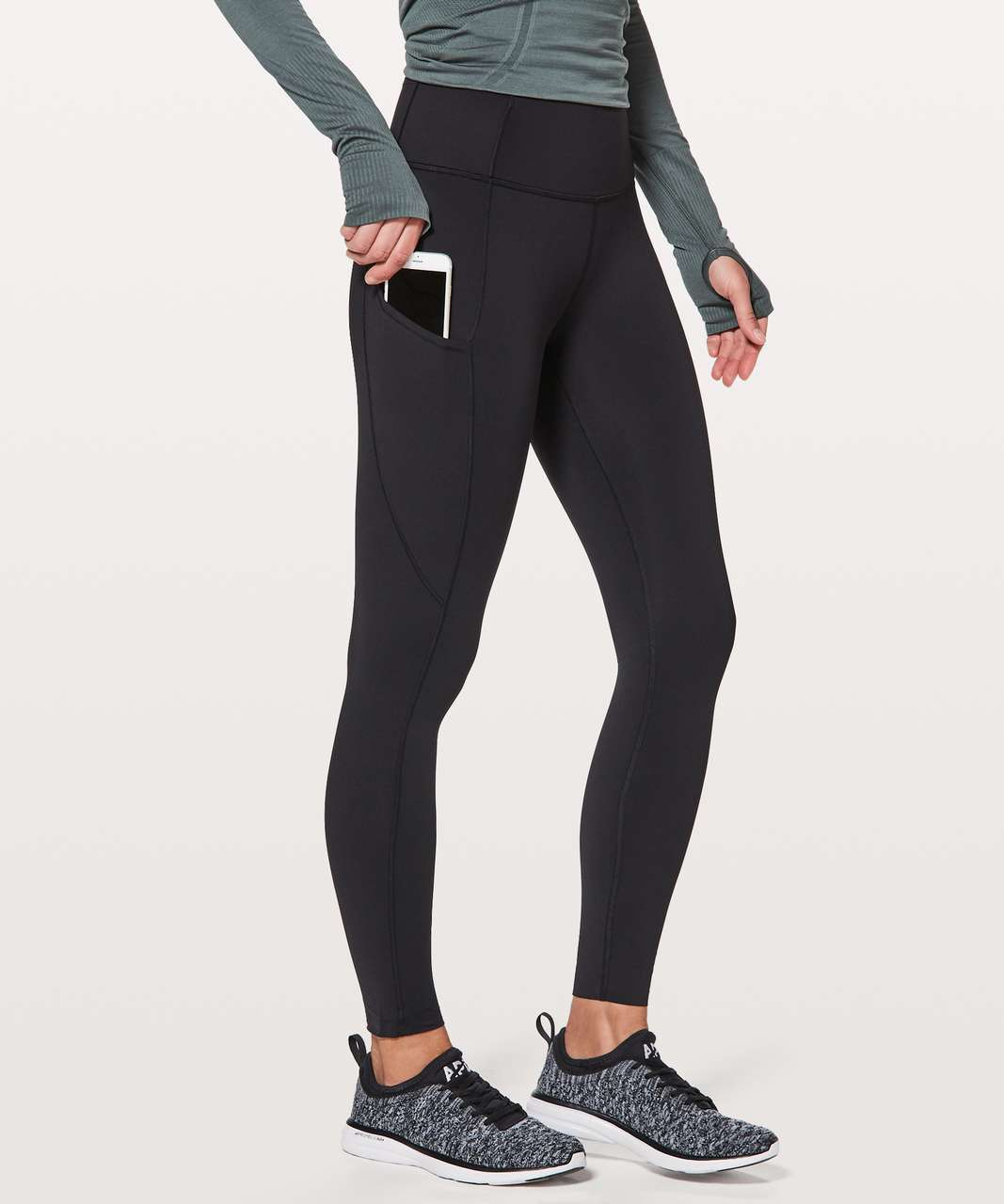 "Lululemon Fast & Free 7/8 Tight II *Non-Reflective Nulux 25"" - Black (First Release)"