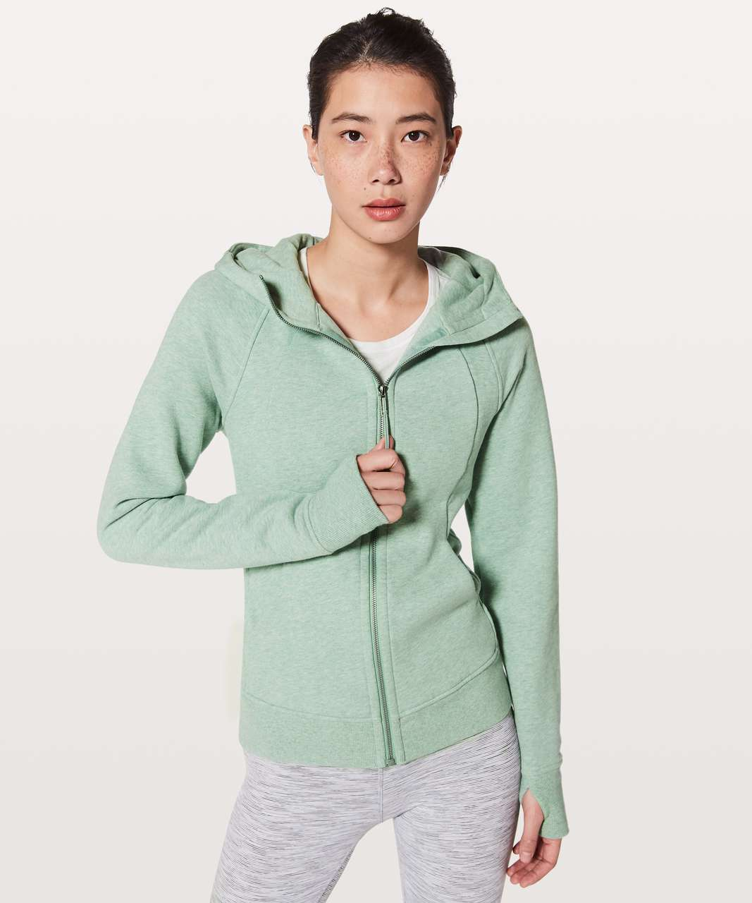 Lululemon Scuba Hoodie *Light Cotton Fleece - Heathered River Mist