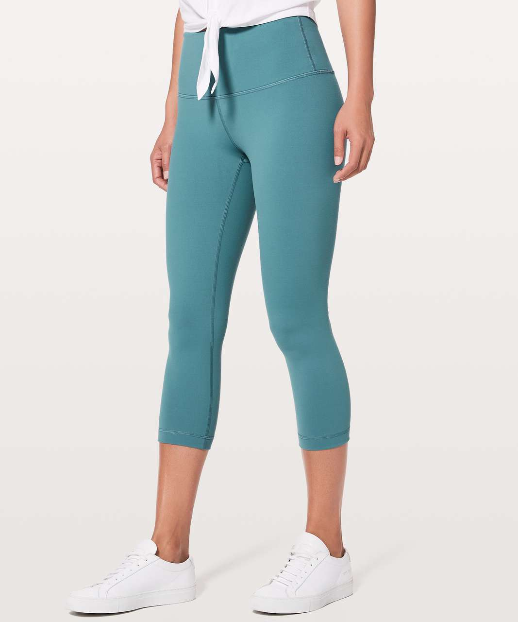 "Lululemon Wunder Under Crop (Hi-Rise) *Full-On Luon 21"" - Persian Blue"